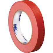 "Tape Logic® Masking Tape, 3/4"" x 60 yds., Red, 12/Case"