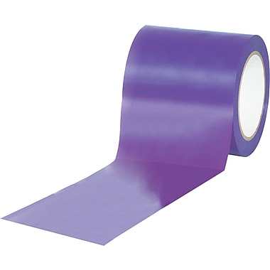 Tape Logic™ 4in. x 36 yds. Solid Vinyl Safety Tape, Purple, 3/Pack