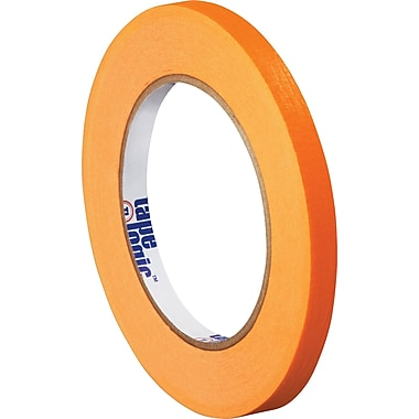 Tape Logic™ 1/4in. x 60 yds. Masking Tape, Orange, 12/Case