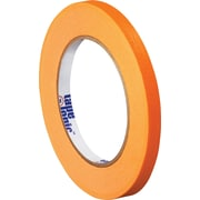 "Tape Logic™ 1/4"" x 60 yds. Masking Tape, Orange, 12/Case"