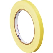 "Tape Logic™ 1/4"" x 60 yds. Masking Tape, Yellow, 12/Case"