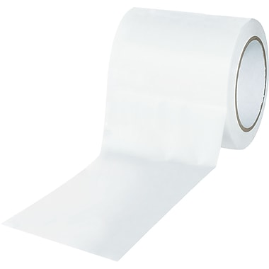 Tape Logic™ 4in. x 36 yds. Solid Vinyl Safety Tape, White, 3/Pack