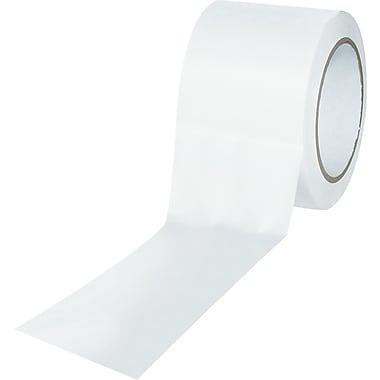 Tape Logic™ 3in. x 36 yds. Solid Vinyl Safety Tape, White, 3/Pack