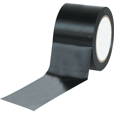 Tape Logic™ 3in. x 36 yds. Solid Vinyl Safety Tape, Black, 3/Pack