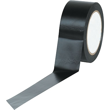 Tape Logic™ 2in. x 36 yds. Solid Vinyl Safety Tape, Black, 3/Pack