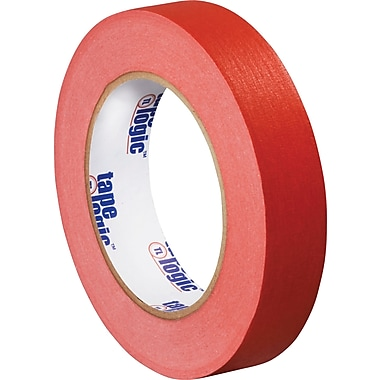 Tape Logic™ 1in. x 60 yds. Masking Tape, Red, 12/Case