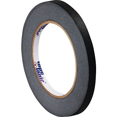 Tape Logic™ 1/4in. x 60 yds. Masking Tape, Black, 12/Case