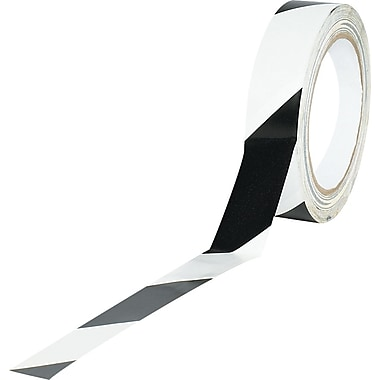 Tape Logic™ 1in. x 36 yds. Striped Vinyl Safety Tape, Black/White, 48/Case