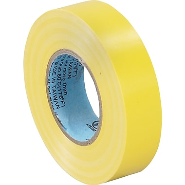 Tape Logic™ 3/4in.(W) x 20 yds(L) Vinyl Electrical Tape, Yellow, 10/Case