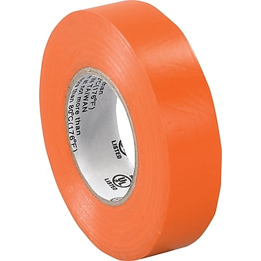 Tape Logic™ 3/4in.(W) x 20 yds(L) Vinyl Electrical Tape, Orange, 10/Case