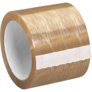 "Tape Logic™ 3""(W) x 110 yds(L) x 2.3 mil Natural Rubber Carton Sealing Tape, Clear, 24/Case"