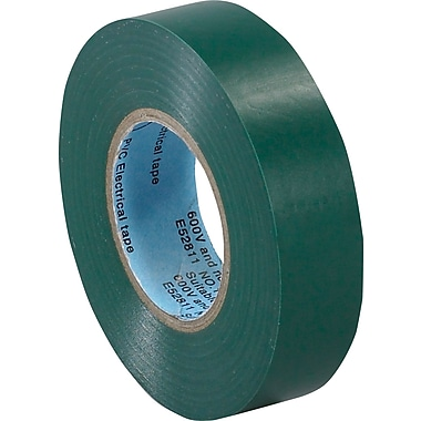 Tape Logic™ 3/4in.(W) x 20 yds(L) Vinyl Electrical Tape, Green, 10/Case