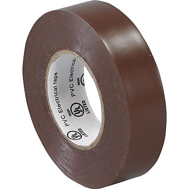 Tape Logic™ 3/4in.(W) x 20 yds(L) Vinyl Electrical Tape, Brown, 10/Case