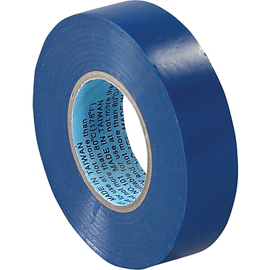 Tape Logic™ 3/4in.(W) x 20 yds(L) Vinyl Electrical Tape, Blue, 10/Pack