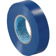 "Tape Logic™ 3/4""(W) x 20 yds(L) Vinyl Electrical Tape, Blue, 10/Case"