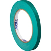 "Tape Logic™ 1/4"" x 60 yds. Masking Tape, Dark Green, 144/Case"
