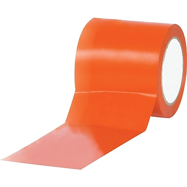 Tape Logic™ 4in. x 36 yds. Solid Vinyl Safety Tape, Orange, 12/Case