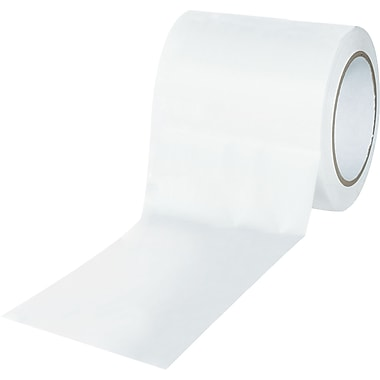 Tape Logic™ 4in. x 36 yds. Solid Vinyl Safety Tape, White, 12/Case