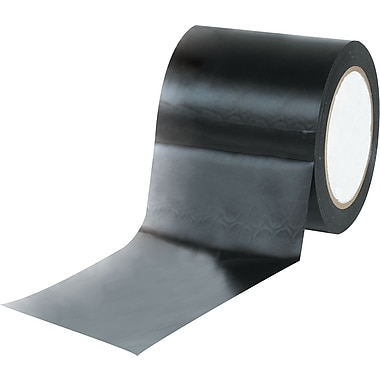 Tape Logic™ 4in. x 36 yds. Solid Vinyl Safety Tape, Black, 12/Case