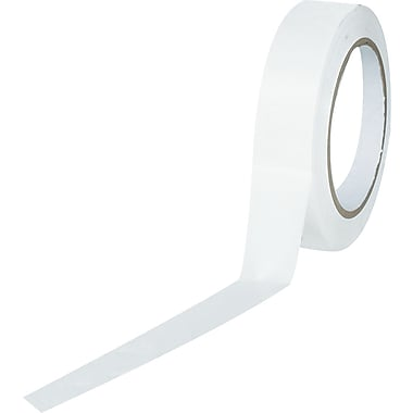 Tape Logic™ 1in. x 36 yds. Solid Vinyl Safety Tape, White, 48/Case
