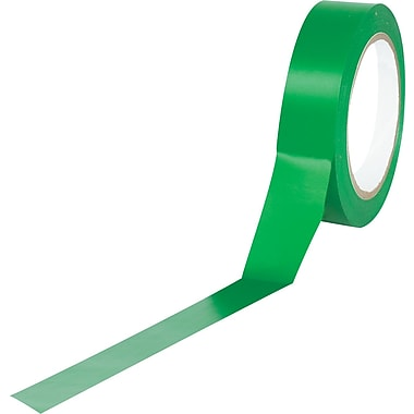 Tape Logic™ 1in. x 36 yds. Solid Vinyl Safety Tape, Green, 48/Case