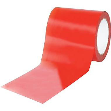 Tape Logic™ 4in. x 36 yds. Solid Vinyl Safety Tape, Red, 12/Case