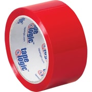 "2"" x 55 yds. Red Tape Logic™ Carton Sealing Tape, 36/Case"