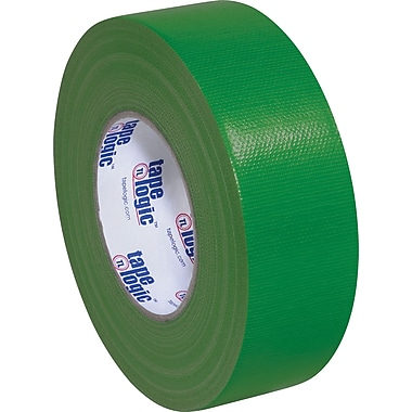 Tape Logic Economy Cloth Duct Tape, Dark Green, 2in. x 60 Yards, 3 Rolls