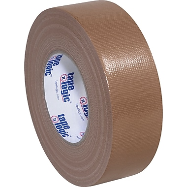 Tape Logic Economy Cloth Duct Tape, Brown, 2in. x 60 Yards, 24 Rolls