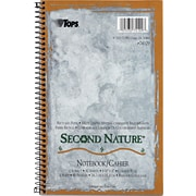 TOPS® Second Nature® Notebooks, 9-1/2 x 6, 1-Subject, College Ruled, 80 Sheets
