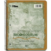 TOPS® Second Nature® Notebooks, 11 x8-1/2, 1-Subject, College Ruled, Recycled, 80 Sheets