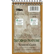"TOPS® Second Nature Memo Notebook, 3"" x 5"", Narrow Rule, White, 100% Recycled, 50 Sheets/Pad (74135)"