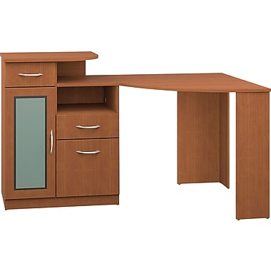 Bush® Vantage Corner Desk, Light Dragonwood