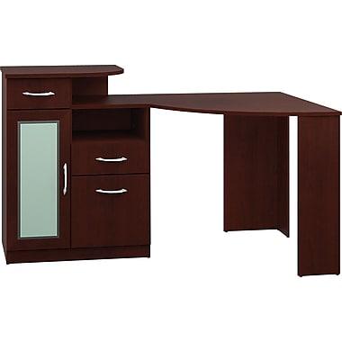 Bush® Vantage Corner Desk, Harvest Cherry