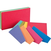 """Oxford® Extreme 3"""" x 5"""" Ruled Multicolored Index Cards, 100/Pack"""