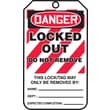 Accuform Signs® 5 3/4in. x 3 1/4in. PF-Cardstock Lockout Tag in.DANGER..DO NOT REMOVEin., Red/Black On White