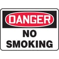 Accuform Signs® 10in. x 14in. Plastic Safety Sign in.DANGER NO SMOKINGin., Red/Black On White