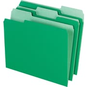 Staples® Colored Top-Tab File Folders, 1/3 Cut, Green, Letter-Size, 24/Pack