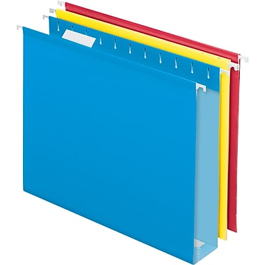 Pendaflex® Box-Bottom Hanging File Folders, Letter, 2in. Capacity, Assorted Colors, 12/Box