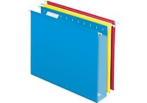 Pendaflex® Box-Bottom Hanging File Folders, Letter, 2' Capacity, Assorted Colors, 12/Box