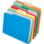 Pendaflex Double Stuff™ Colored File Folders, 3 Tab, Assorted Colors, Letter-Size, 24/Pack