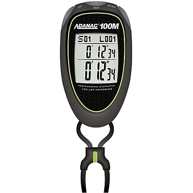 Marathon Super 100 Memory, 6 Mode Digital Stopwatch, Lime Green (ST083010-L)