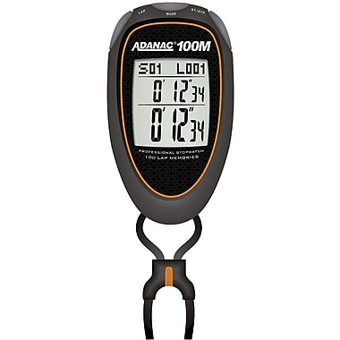 Marathon Stopwatch, Super 100 Memory, Orange