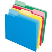 Staples® Colored Top-Tab File Folders, 1/3 Cut, Assorted, Letter-Size, 24/Pack