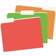 Staples® Colored Top-Tab File Folders, 1/3 Cut, Assorted Extreme, Letter-Size, 12/Pack
