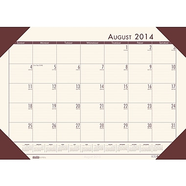 House of Doolittle® Academic Desk Pad Calendar;  Compact, 18-1/2 x 13in., 2014-2015