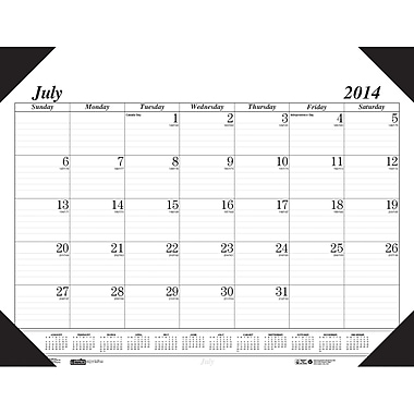 2015 House of Doolittle® Academic Economy Desk Pad Calendar, 22 x 17in.