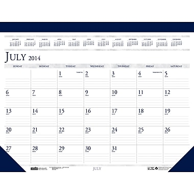 2015 House of Doolittle® Academic Desk Pad Calendar, 22 x 17in.