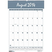 House of Doolittle® Bar Harbor Academic Monthly Wall Calendar; 15-1/2x22, 2014-2015, Recycled