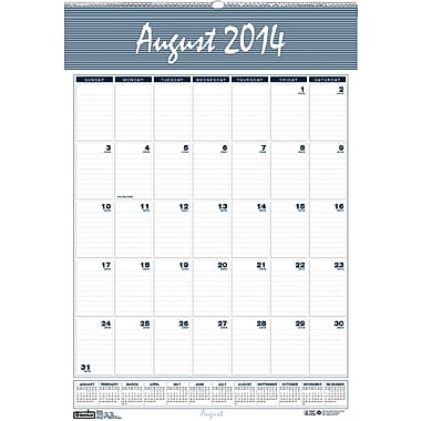 House of Doolittle® Bar Harbor Academic Monthly Wall Calendar; 22x31in., 2014-2015, Recycled